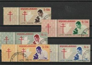 Burundi Tuberculosis Used Stamps Ref 23807