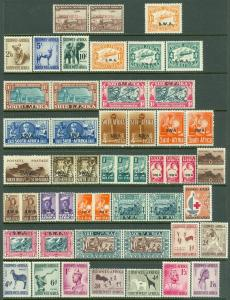 EDW1949SELL : SOUTH WEST AFRICA Nice collection of all VF MOG Better sgls & sets