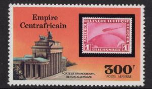 Central African Republic  #C186 Empire 1977 MNH  300fr Zeppelin