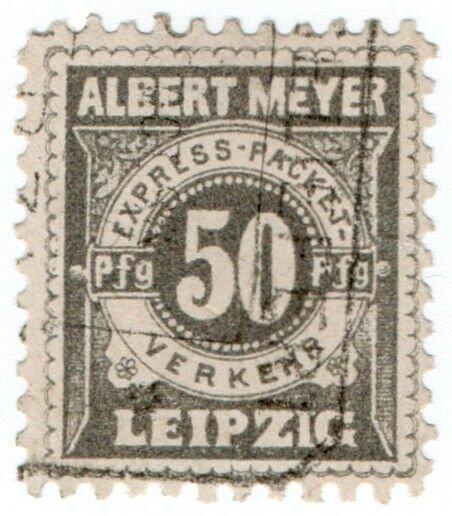 (I.B-CK) Germany Local Post : Leipzig 50pf (Albert Meyer)