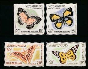 LAOS 101-103, C46 MINT NH BUTTERFLIES