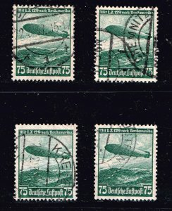 GERMANY STAMP 1936 Reich Airship Hindenburg Zeppelin USED STAMPS LOT