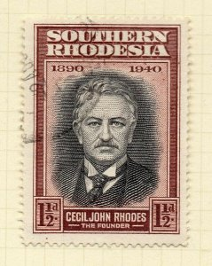 Southern Rhodesia 1940 Early Issue Fine Used 1.5d. NW-14406