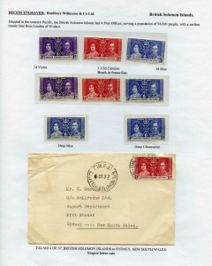 British Solomon Is 1937 Coronation Page