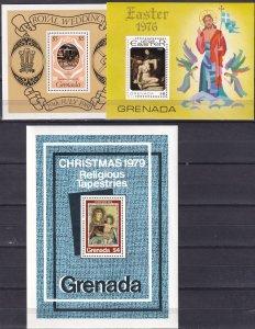 Grenada #715, 949, 1054  MNH CV $3.40 (Z2032L)