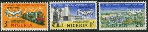NIGERIA Sc#178-180 SG#167-168 1965 Cooperation Year Complete OG Mint LH