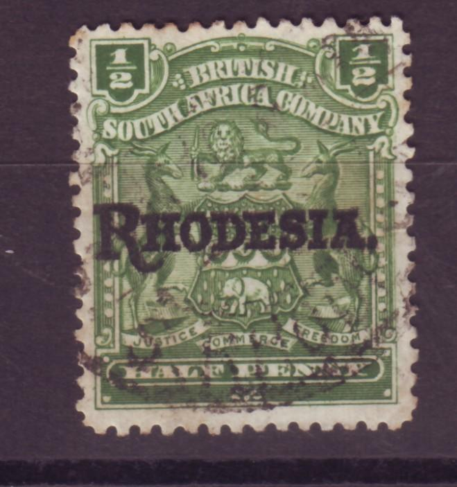 J17067 JLstamps 1909 rhodesia used #82 ovpt