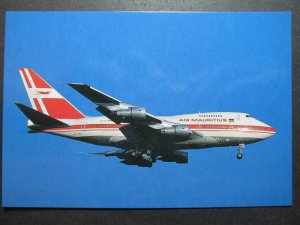 9894 Aviation Postcard AIR MAURITIUS Airlines BOEING 747SP-44