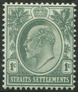 STRAITS SETTLEMENTS-1905 1c Deep Green chalk-surfaced paper Sg 127a MM V50185