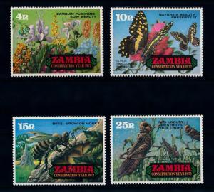Zambia MNH 86-9 Butterfly Bee Flower Locust 1972