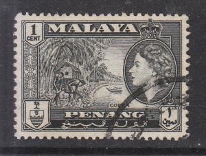 Malaya Penang 1957 Sc 45 1c Used