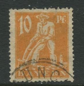 Bavaria -Scott 239 - Ploughman -1920 - Used - 10pf Stamp