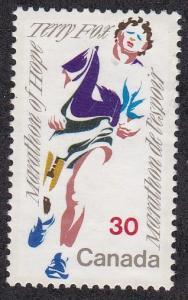 Canada # 915, Terry Fox - Marathon Runner, Unused, No Gum