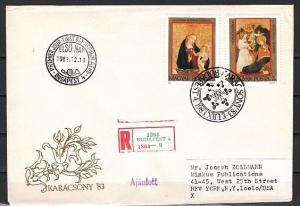 Hungary, Scott cat. 2825-2826. Religious Art issue. First day cover.