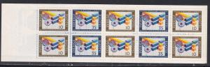 Sweden # 732a, Booklet, Double Mortise Corner, NH, 1/2 Cat