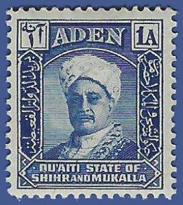 Aden Qu'aiti State of Shihr and Mukalla #3 1942 Mint LH