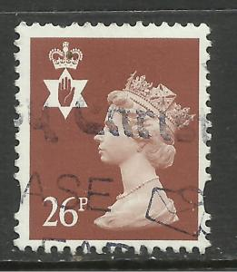 Northern Ireland GB 1997 QE2 26p Chestnut Machin used SG NI 81 ( F412 )