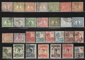 Netherlands Indies # 101-136, +158 ~ Shorth Set 28 /37 + # 158 ~ MX, Conditions