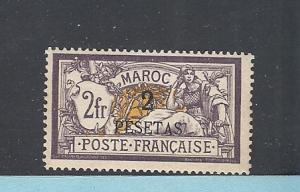 French Morocco, 22, Surcharged Single, **Hinged**