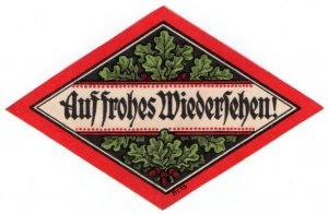 (I.B-CK) Germany (Great War) Cinderella : Propaganda Seal (Goodbye)