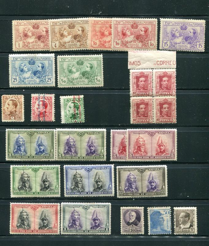 Spain  Lot  Hinged and NH