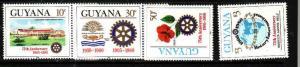 Guyana-Sc#318-21-unused NH set-Rotary International-1980-