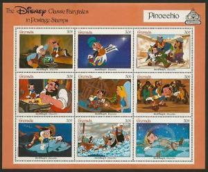 Grenada 1543 MNH Disney, Pinocchio
