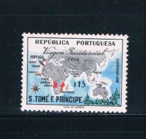 Saint Thomas and Prince Is 367 MLH Map and Plane (GI0445)+