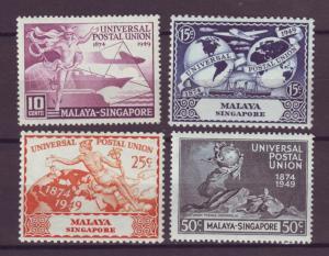 J21359 Jlstamps 1949 singapore set mlh #23-6 upu