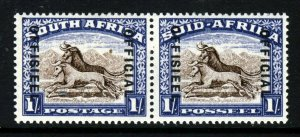 SOUTH AFRICA 1939 OFFICIAL Overprinted 1/- Brown & Blue Reading Down SG O25 MNH