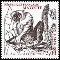 MAYOTTE 1997 - Scott# 89 Lemur Set of 1 NH