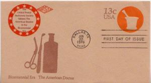 United States, First Day Cover, Postal Stationery, Medical