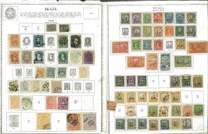 Brazil 1850-1986 M & U Hinged & in Mounts on Minkus Global Pages
