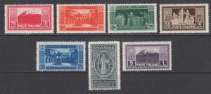 Italy Sc 232-238 MNH. 1929 Abbey of Monte Cassino, St. Benedict, cplt set.
