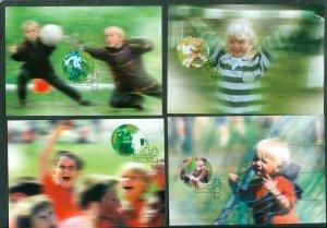 Norway. 2002  Maximum Card Set (4) Soccer 100 Year. Scott# 1331 a-d