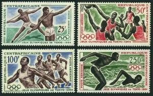 Central Africa C20-C23,MNH.Michel 59-62. Olympics Tokyo-1964.Javelin,Basketball,