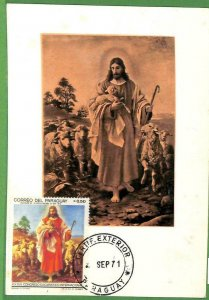 90264  - PARAGUAY -   MAXIMUM CARD -   ART Religion  1971