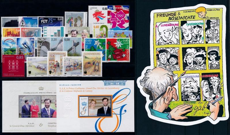 Luxembourg Luxemburg 2012 Complete Year Set  MNH