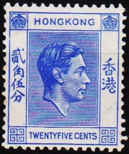 Hong Kong. 1938 25c S.G.149 Mounted Mint