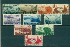 Eritrea - Sc# C7-16. 1936 Air Mails. Cplt. Used. $90.15.