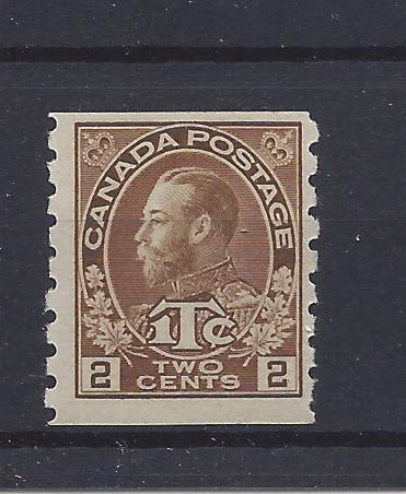 Canada, MR7a, War Tax Coil Type I Coil Single,**MNH**