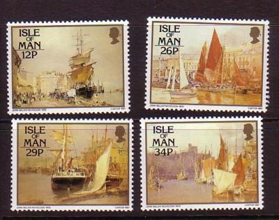 Isle of Man Sc 327-0 1987 Harbour Painting stamps mint NH
