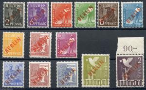 GERMANY BERLIN SCOTT# 9N21-34 MICHEL# 21-34 MINT NEVER HINGED AS SHOWN (ACH)
