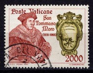 Vatican City 1985 450th Death Anniversary of Saint Thomas More, 2000l [Used]