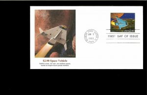 1983 FDC $2.90 Priority Mail Kennedy Space Ctr. FL