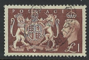Great Britain Scott 289 Used! Very Nice Stamp!