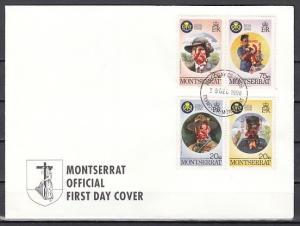 Montserrat, Scott cat. 966-967. Scout Jamboree, Red o/print. First Day Cover.