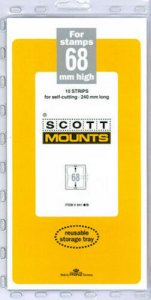 Scott/Prinz Pre-Cut Strips 240mm Long Stamp Mounts 240x68 #941 Black