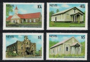 Nevis Christmas Churches of Nevis 2nd series 4v 1986 MNH SG#462-465