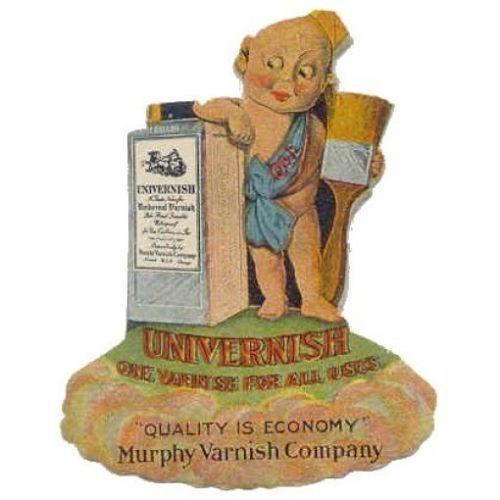 Murphy Varnish Co. UNIVERNISH Diecut Adv. Poster Stamp
